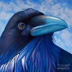 watercolor floral raven - Google Search