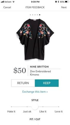 Stitch Fix Stylist love this kimono! STITCH FIX FASHION Ask your stylist for on trend items like this. Delivered to your door! Fashion 2018, Pop Fashion, Fashion Tips, Fashion Trends, Fashion Edgy, Spring Summer Trends, Spring Summer Fashion, Stitch Fix Fall, Love Jeans
