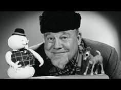 televisionmusicals: thats-the-way-it-was: December Folk singer Burl Ives poses with Sam The Snowman and Rudolph from Rudolph The Red-Nosed Reindeer, a Christmas television special produced in.