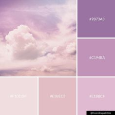 Clouds | Cotton Candy Skies | Purple |Color Palette Inspiration. | Digital Art Palette And Brand Color Palette.
