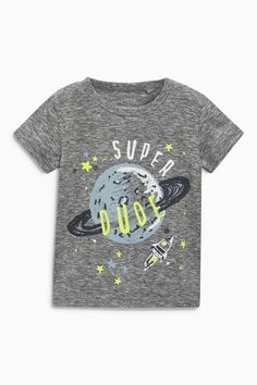 Buy Grey Super Dude Short Sleeve T-Shirts Three Pack (3mths-6yrs) from the Next UK online shop