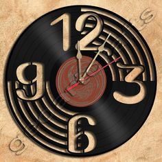 Wall Clock Vinyl Record Clock Upcycled Gift Idea by geoartcrafts