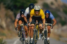 Stock Photo : Cyclists competing in road race