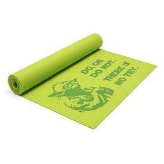Star Wars Yoda Yoga Mat. I just got a new mat, but I think I might need Yoda's encouragement!!