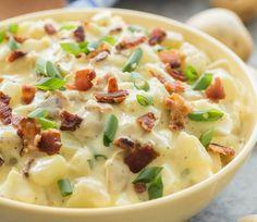 C'est une bonne vieille salade de patates très rafraîchissante, crémeuse, à laquelle on ajoute une bonne dose de bacon! C'est fabuleux!