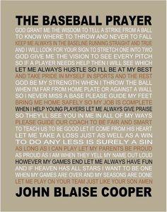 The Baseball Prayer personalized 11 X 14 by on Etsy. Works for Softball! Baseball Crafts, Baseball Quotes, Baseball Party, Baseball Season, Sports Baseball, Baseball Stuff, Basketball, Baseball Quilt, Travel Baseball