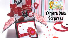 Tarjeta Caja Sorpresa - Manualidades Paso a Paso San Valentín