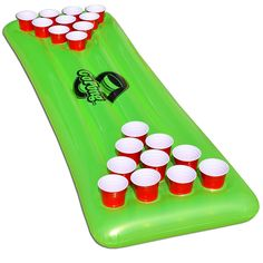 Amazon.com : GoPong Pool Pong Table, Inflatable Floating Beer Pong Table, Includes 3 Pong Balls : Sports & Outdoors