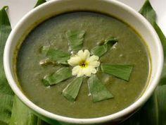 recettes: potages et soupes: Soupe d'ail des ours (rapide et light)