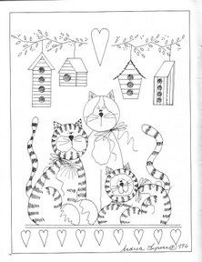Andi's Friends - profumo di lavanda - Álbuns da web do Picasa Cross Stitching, Cross Stitch Embroidery, Embroidery Patterns, Hand Embroidery, Quilt Patterns, Cat Coloring Page, Coloring Book Pages, Cat Crafts, Sewing Crafts