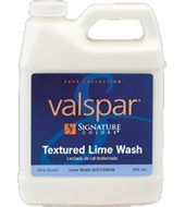 Valspar® Textured Lime Wash . For white wash brick, check it out at HD see if it makes more sense than mixing it myself.