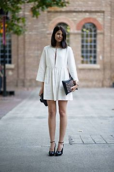 short white summer frock