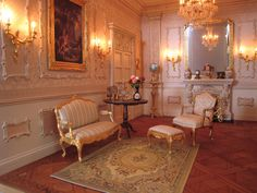 Settee in the Rococo room Settee, Rococo, Castle, Miniatures, Country, House, Sofa, Rural Area, Home