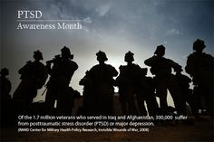 The month of June is PTSD Awareness month. Ptsd Awareness, Military Weapons, Ptsd Military, Us Vets, Staff Sergeant, Wounded Warrior, Us Marines, Marine Corps, America