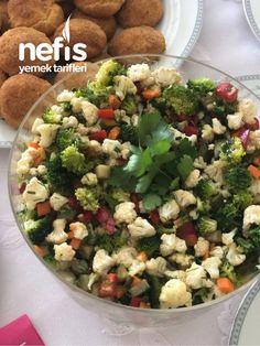 """""""Kışımın Baharı"""" Salatası – Nefis Yemek Tarifleri How to Make the """"Spring of My Winter"""" Salad Recipe? Winter Salad Recipes, Healthy Salad Recipes, Rice Recipes, Potato Recipes, Salad Menu, Salad Dishes, Cottage Cheese Salad, Rice Ingredients, Seafood Salad"""