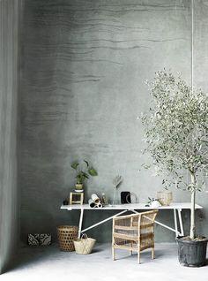 textured concrete walls