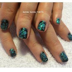 Diana's nail design! #geonails #geometricdesign #nailart #nailgasm #nailporn #nailsdid #nailjunkie #naildesign #fashion #beauty #wowwownails #toronto