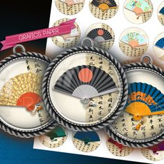 Digital Collage Sheet Circles Bottle Caps 1.5 by GraphicsPaper