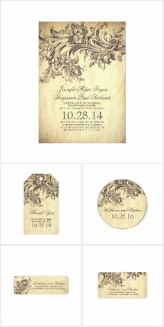 Vintage Flourishes Wedding Collection