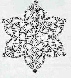 Captivating All About Crochet Ideas. Awe Inspiring All About Crochet Ideas. Crochet Snowflake Pattern, Crochet Stars, Christmas Crochet Patterns, Crochet Snowflakes, Crochet Flower Patterns, Crochet Mandala, Thread Crochet, Crochet Doilies, Crochet Diagram