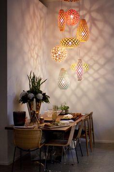 A cluster of David Trubridge mini lights makes everything okay ... image via @Backhouse1948