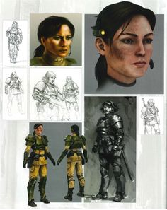 Imperial Guard - Warhammer 40k - Astra Militarum - Cadian Shock Troops - Lt. Mira - Officer - Concept Art