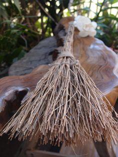 "16"" Handmade Halloween Brooms -  Decorative witches' Twig Brooms"