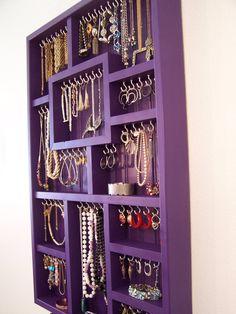 Jewelry Organizer For The Wall, Display Your Jewelry, Jewelry Box. $128.00, via Etsy.