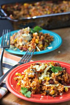 Beans and Rice Casserole ~vegan, gluten free~ A healthy family meal that is easy on the budget!