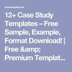 Case Study Layout  Powerpoints    Powerpoint Free