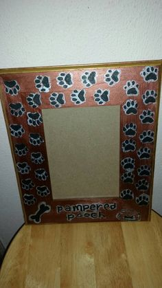 pampered pooch picture frame by kaoticlykreative on etsy