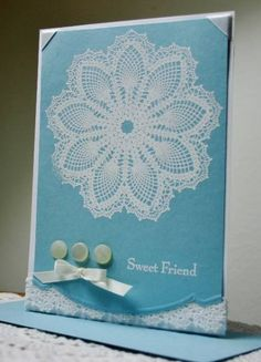 WT363 Grandma's Doily by Holstein - Cards and Paper Crafts at Splitcoaststampers