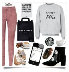 """coffee.poly.repeat"" by lseed87 ❤ liked on Polyvore featuring Steven, ESCADA, Crate and Barrel, Blackbird, Rustic Arrow, coffee, poly and coffeepolyrepeat"