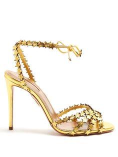 AQUAZZURA Starlight Leather Sandals. #aquazzura #shoes #sandals
