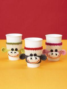 Cup Cozy   Yarn   Free Knitting Patterns   Crochet Patterns   Yarnspirations