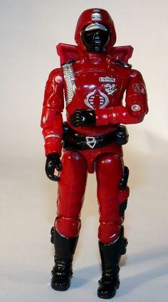 GI Joe Crimson Guard v1 w/ Backpack 1985 by DoorCountyVintage, $10.20