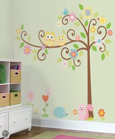 bol.com | RoomMates - Muursticker Scroll Tree Megapack - Meerkleurig | Baby