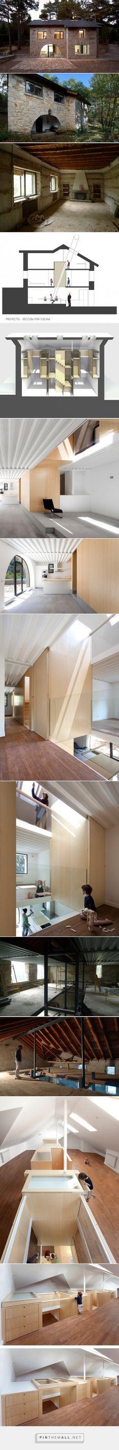 Casas Houzz: El antes y el después de una oscura casa de piedra