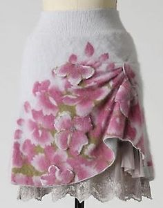 Sleeping on Snow sweater skirt for Anthro