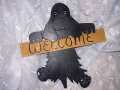 Hanging Wood Welcome Sign