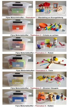 Themaboxen Fijne Motoriekkoffer Quiet Time Boxes, Busy Boxes, Sensory Activities, Learning Activities, Activities For Kids, Montessori, School Ot, Primary School, Aboriginal Education