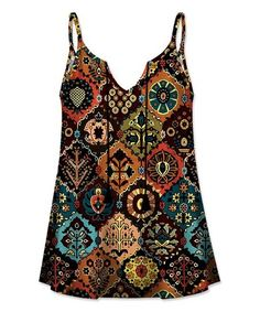 Fluttery tassels and a flowing fit lend bohemian flair to this camisole that sports a dazzling pattern. Arabesque, Sleeveless Blouse, Tassels, Camisole, Burgundy, Bohemian, Tank Tops, My Style, Clothes