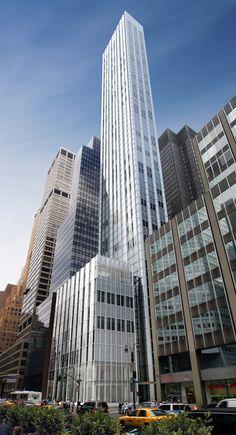 Foster's skinny skyscraper underway beside Mies' Seagram Building