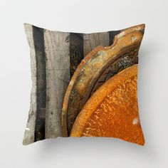 Rusted Throw Pillow by Tracy Engle - $20.00