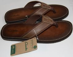 Clarks Men's Logan Yucatan Brown Marron Flip Flop Size US 13  UK 12 G  EU 47 M #Clarks #FlipFlop