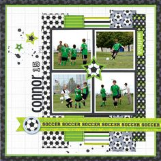 Layout: GOOOOOAAAALLLLL!! featuring the Goal Collection from Doodlebug Design