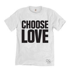 75755a1612fd Choose Love T-shirt - new Katharine Hamnett tshirt raising money to Help  Refugees -