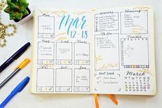 Need a quick and easy way to get more organized? Try a Bullet Journal weekly spread! See your whole week at a glance with room for goals, meal planning, habit tracking and more!