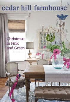 Christmas Decorating Tips for Busy Moms | Christmas in Pink and Green | Cedar Hill Farmhouse.