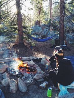 camping with friends #campfire #hammock #outdoors